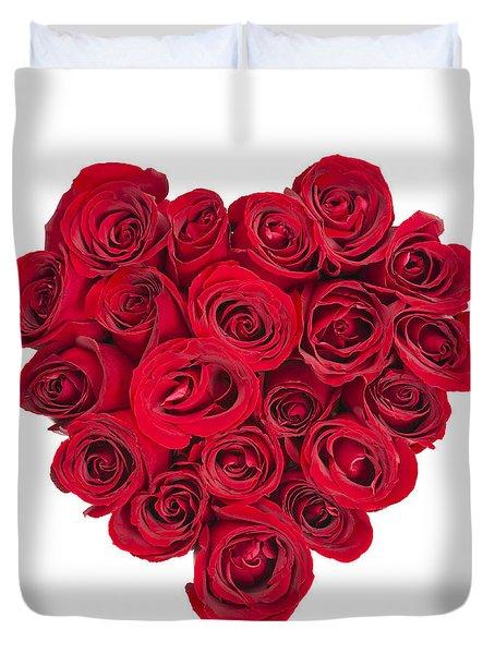 Rose Heart Duvet Cover