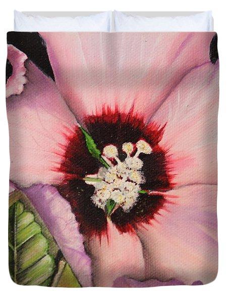 Rose Of Sharon Duvet Cover by Karen Beasley