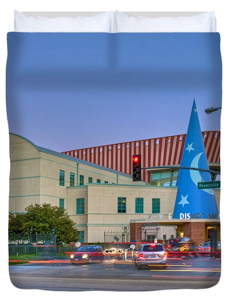 Roy E. Disney Animation Building In Burbank Ca. Duvet Cover by David Zanzinger
