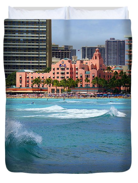 Royal Hawaiian Hotel Duvet Cover by Kevin Smith