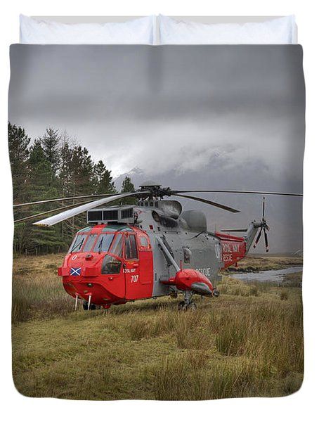Royal Navy Sar Sea King Xz920 Glencoe Duvet Cover