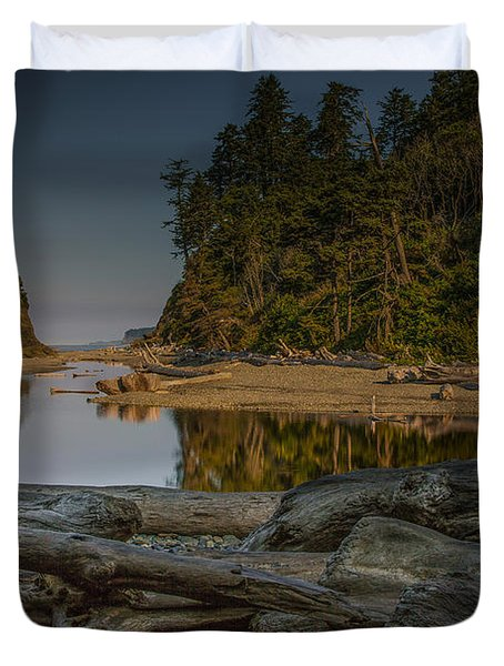 Ruby Beach Morning - Olympic National Park Duvet Cover