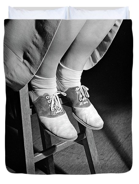Saddle Shoes, 1943 Duvet Cover