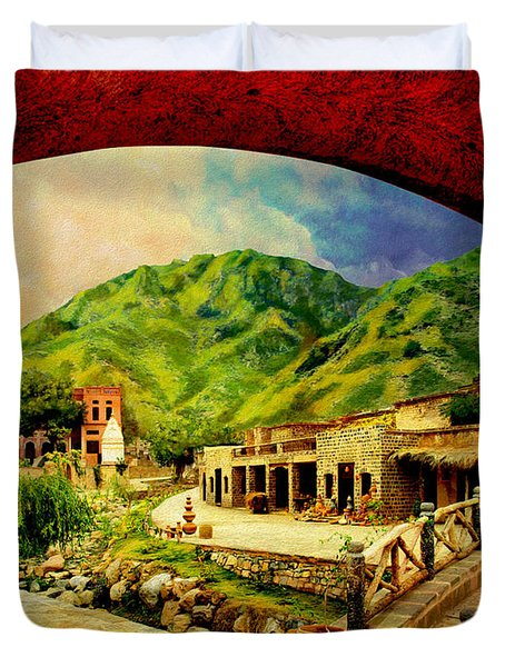 Saidpur Village Duvet Cover by Catf