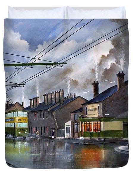 Salop Street Dudley C 1950 Duvet Cover
