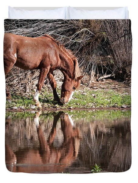 Salt River Wild Horse Duvet Cover