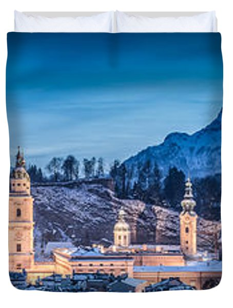 Salzburg Winter Romance Duvet Cover