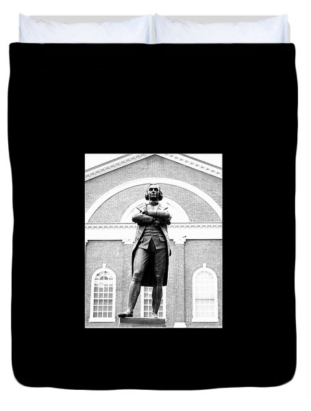 Samuel Adams Statue, State House Boston Ma Duvet Cover