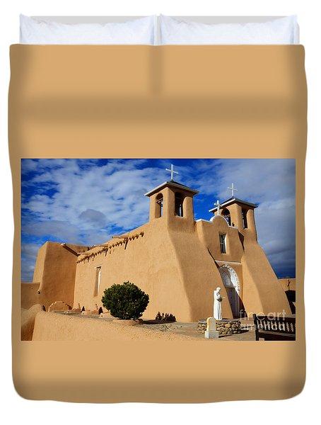 San Francisco De Asis Taos New Mexico 3 Duvet Cover by Bob Christopher