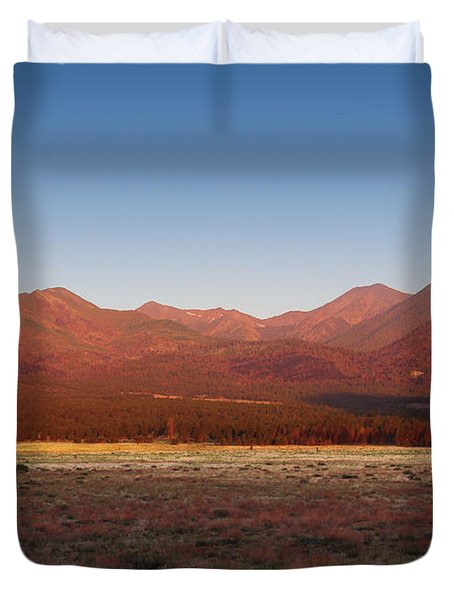 San Francisco Peaks Sunrise Duvet Cover