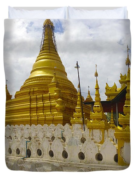 Duvet Cover featuring the photograph Sandamuni Pagoda Mandalay Burma by Ralph A  Ledergerber-Photography
