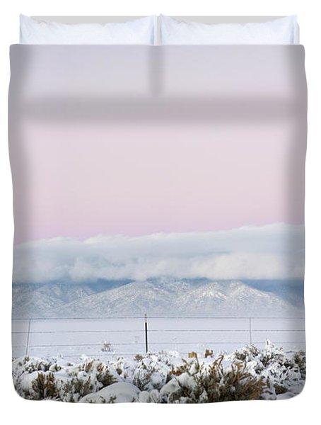 Sangre De Cristo Range With Clouds Duvet Cover