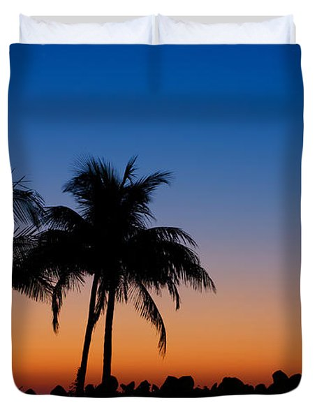 Sanibel Island Florida Sunset Duvet Cover
