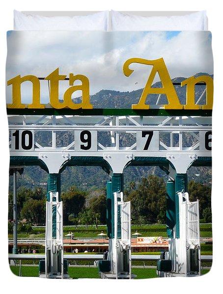 Santa Anita Starting Gate Duvet Cover