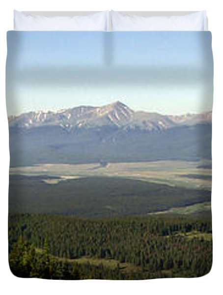 Sawatch Panoramic Duvet Cover by Jeremy Rhoades