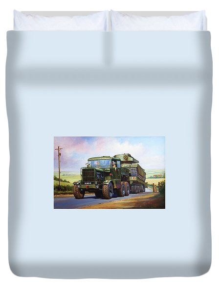 Scammell Explorer. Duvet Cover by Mike  Jeffries