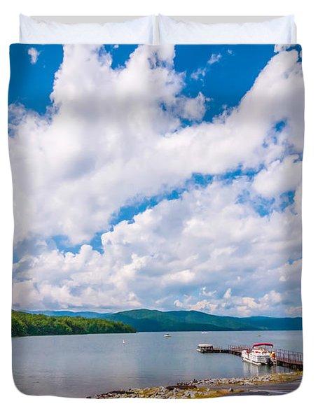 Scenery Around Lake Jocasse Gorge Duvet Cover