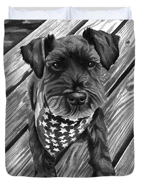 Ragnar Black Dog Duvet Cover