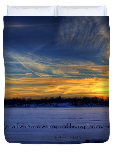Scripture Photo Duvet Cover