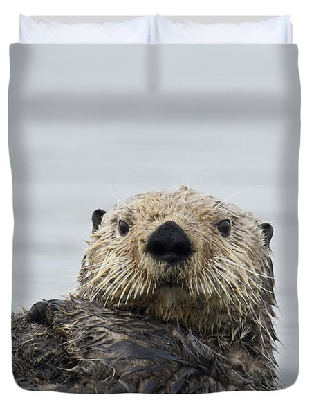 Sea Otter Alaska Duvet Cover