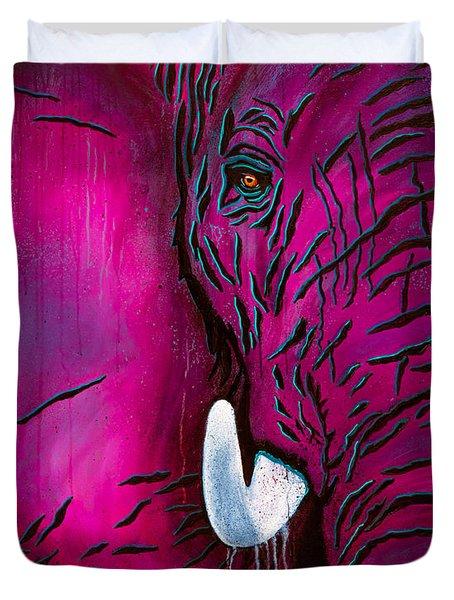 Seeing Pink Elephants Duvet Cover