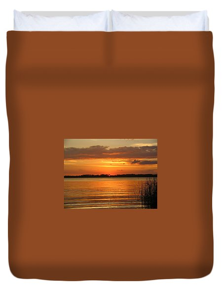 Setting Sun In Mount Dora Duvet Cover