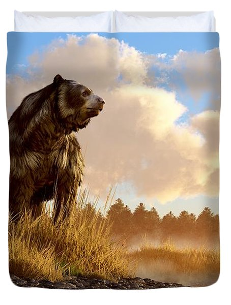 Short Faced Bear Duvet Cover