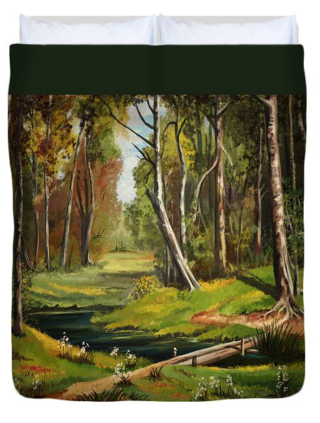 Silence Of The Forest Duvet Cover