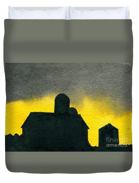 Silhouette Farm 2 Duvet Cover