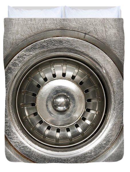 Sink Plug Duvet Cover by Tim Hester