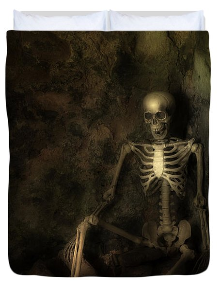 Skeleton Duvet Cover by Amanda Elwell