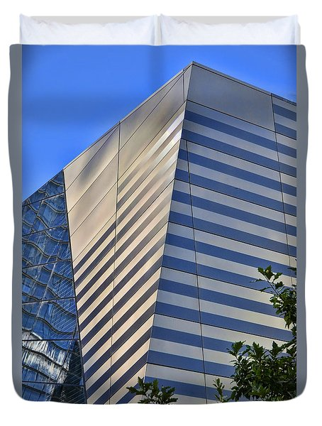 Skyscraper Abstract 4 Duvet Cover by Allen Beatty