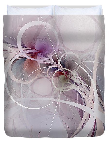 Duvet Cover featuring the digital art Sleight Of Hand by NirvanaBlues