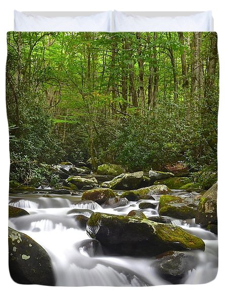 Smoky Mountain National Park Duvet Cover by Frozen in Time Fine Art Photography