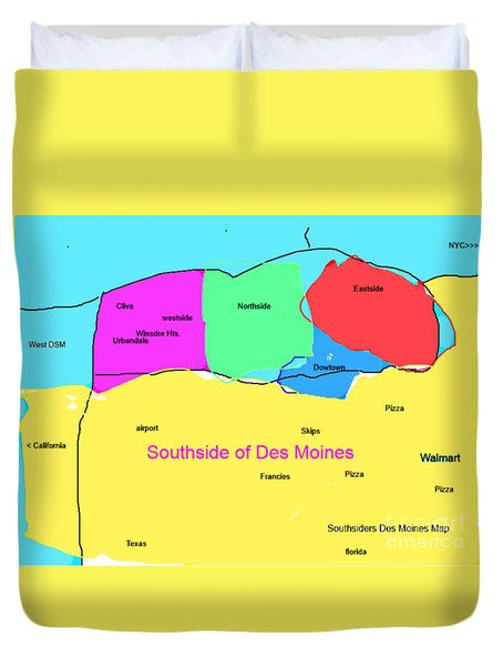 Southsiders View Of Des Moines Duvet Cover