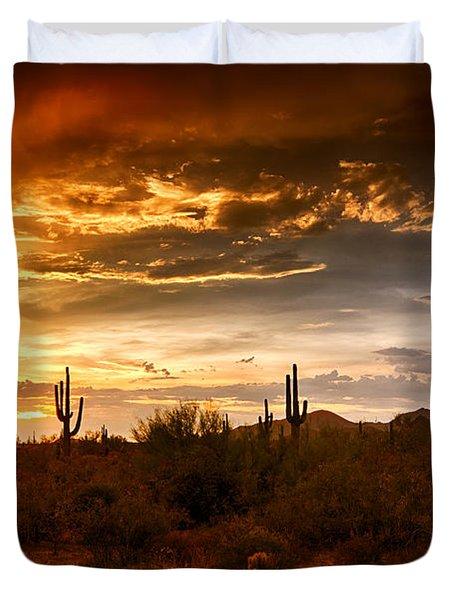 Southwestern Skies  Duvet Cover by Saija  Lehtonen