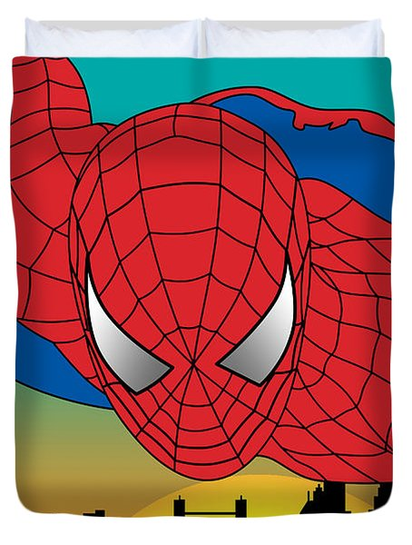 Spiderman  Duvet Cover by Mark Ashkenazi
