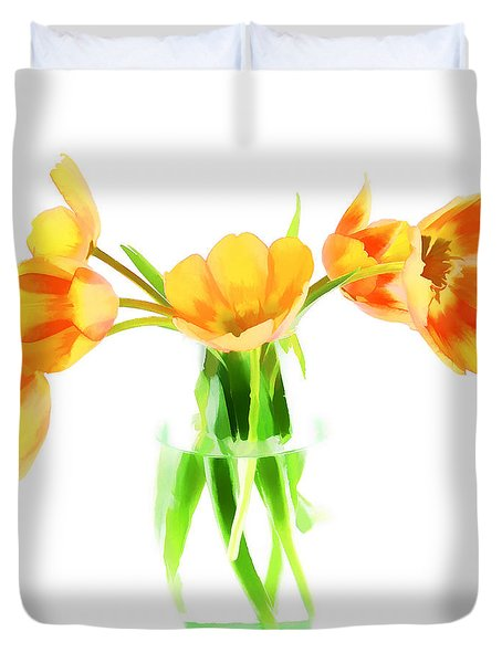 Spring Tulips Duvet Cover by Darren Fisher