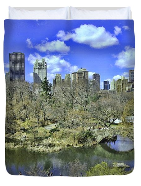 Springtime In Central Park Duvet Cover