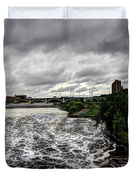 St Anthony Falls Duvet Cover by Amanda Stadther