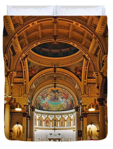 St. Leonard's Church....boston Duvet Cover by Joann Vitali