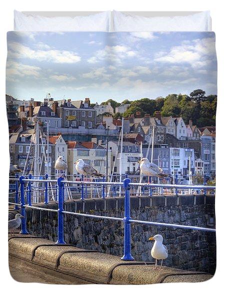 St Peter Port - Guernsey Duvet Cover by Joana Kruse