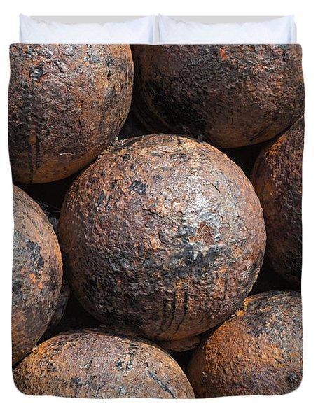 Stack Of Cannon Balls At Castillo San Felipe Del Morro Duvet Cover