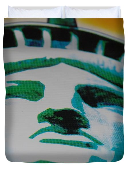 Statue Of Liberty  Duvet Cover by Rob Hans