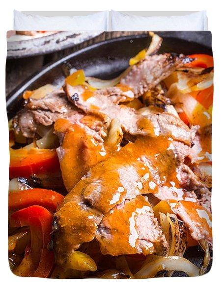 Steak Fajitas Duvet Cover