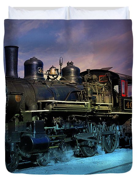 Steam Engine Nevada Northern Duvet Cover