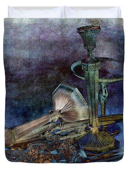 Sterling Silver Duvet Cover by Gunter Nezhoda