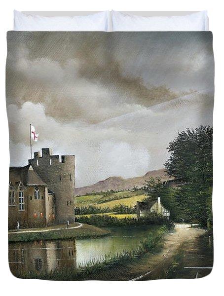 Stokesay Castle Duvet Cover