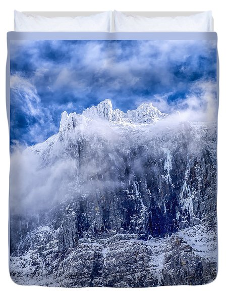 Duvet Cover featuring the photograph Stone Cold by Aaron Aldrich