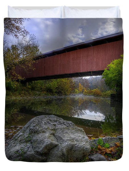 Stonelick Covered Bridge Duvet Cover